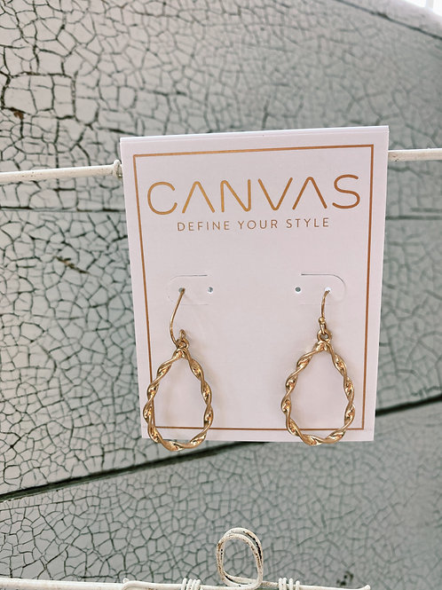 Sm Teardrop Earrings Twisted Gold