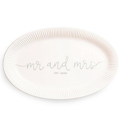 Mr. and Mrs. Est. 2020 Platter