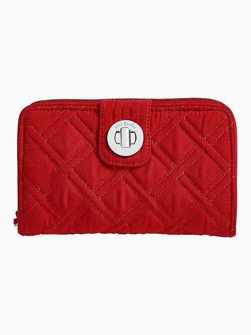 RFID Turnlock Wallet Cardinal Red