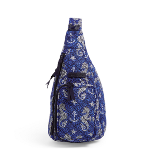 Vera Bradley Iconic Mini Sling Backpack - Seahorse of Course