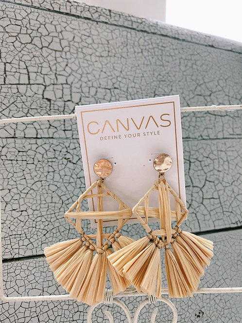 Calista Statement Earrings - Cream