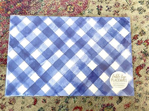 Blue Check Paper placemats(20pk)
