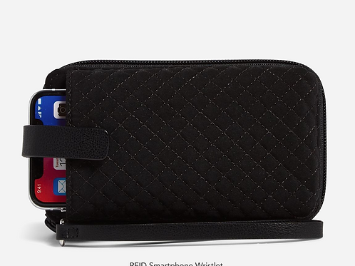 RFID Smartphone Wristlet Classic Black