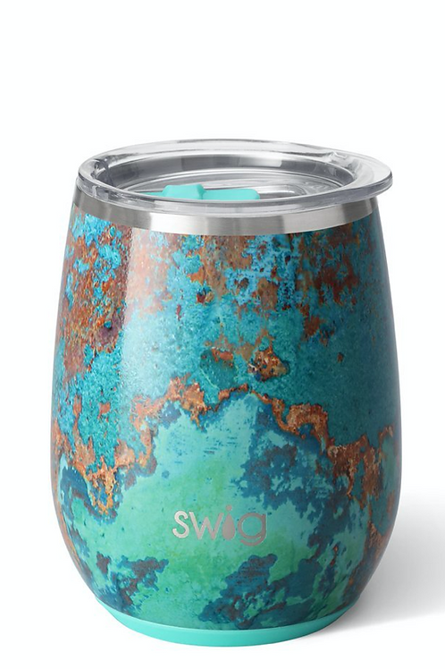 Swig Copper Patina Stemless Wine Cup (14oz)
