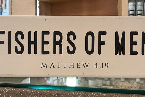 Small Wooden Sign- Matthew 4:19
