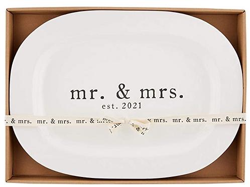 Mudpie MR & MRS 2021 Platter