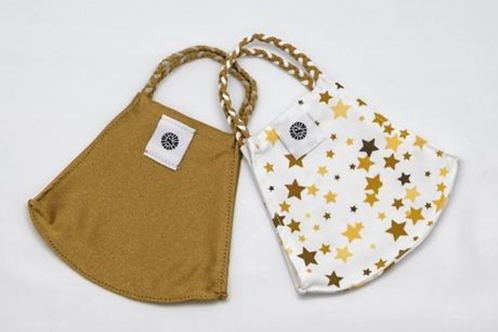 Pomchies mask set of 2- Gold Stars