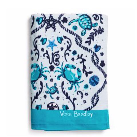 Vera Bradley Beach Towel -  Mint Sea Life