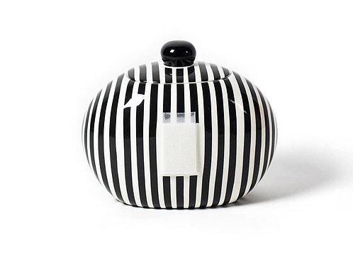 Coton Colors Black Stripe Big Cookie Jar