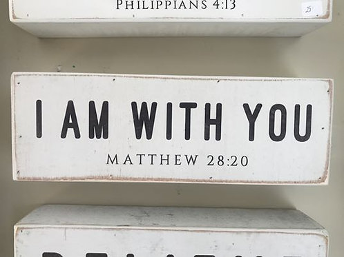 Small Wooden Sign- Matthew 28:20