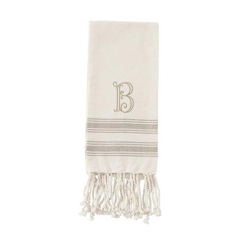 "Initial Turkish Towel- ""B"""