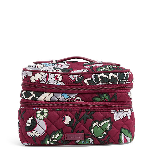 Iconic Jewelry Train Case Bordeaux Blooms