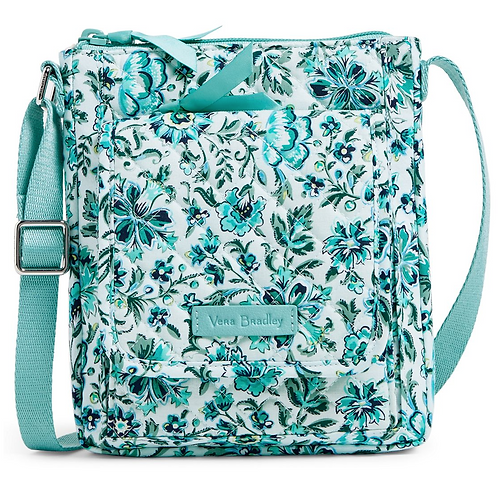 Vera Bradley iconic RFID Mini Hipster - Cloud Vine