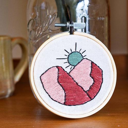 Desert Sunset Beginners Embroidery Kit
