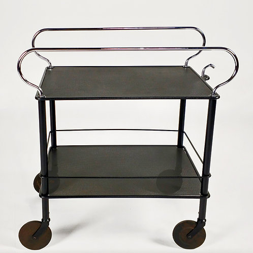 Black Bar Cart side