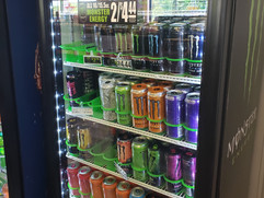 Monster, mountain dew energy drinks