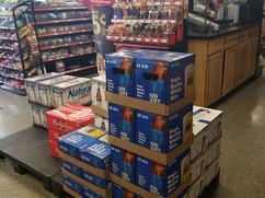 Case of Bud light, budweiser at Patriots Travel Center