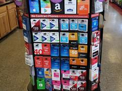 Amazon, Visa, Master Card, Google Play, Lowe's