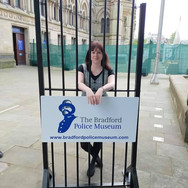 Rachael at the Bradford Police Museum