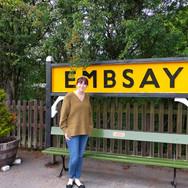 Rachael at Embsay Railway