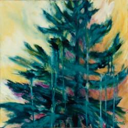 Shimmering Pine Les pins scintillent acrylique 20 x 20
