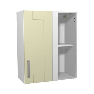 Cream Kitchen Corner Wall Unit - 600mm