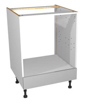 Grey Gloss Kitchen Built Under Oven Unit 600mm