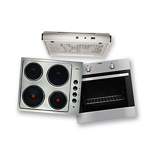 Zanussi Conventional Oven, Hood & Electric Hob Pack