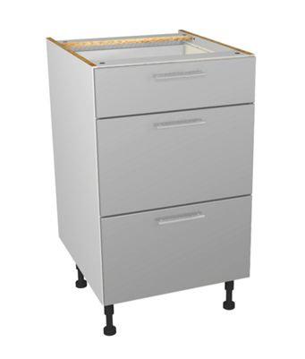 Grey Gloss Kitchen Drawer  Unit 500mm