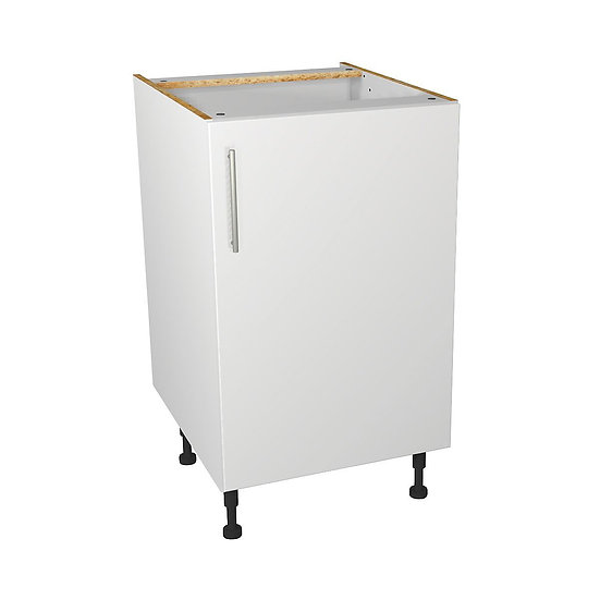 White Gloss Kitchen Base Unit - 500mm