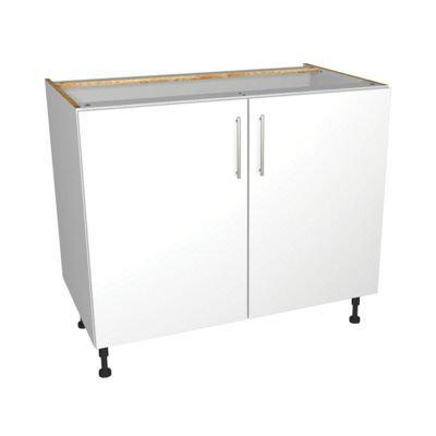 White Gloss Kitchen Base Unit 1000mm