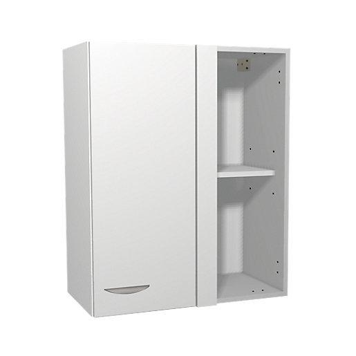White Matt Kitchen Corner Wall Unit - 600mm
