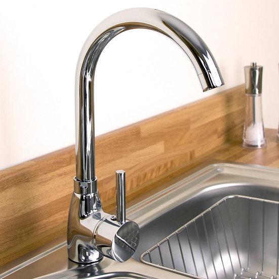 Kadaya Chrome Modern Single Lever Swivel Spout Kitchen Sink Mixer Tap