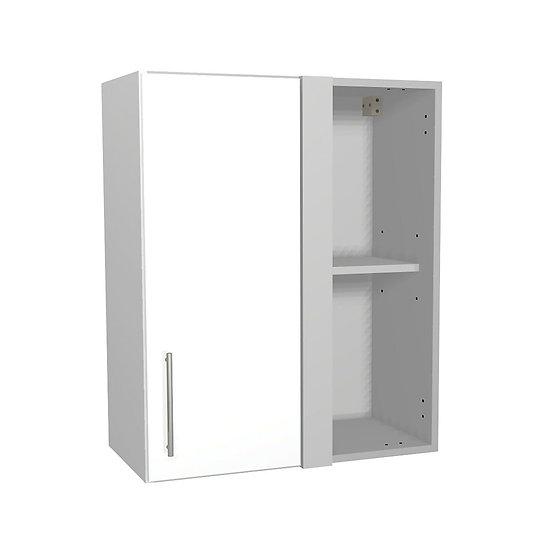 White Gloss Kitchen Corner Wall Unit - 600mm