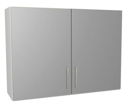 Grey Gloss Kitchen Wall Unit 1000mm