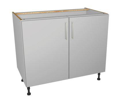 Grey Gloss Kitchen Base Unit 1000mm