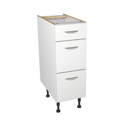 White Matt Kitchen Drawer Unit - 300mm