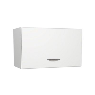White Matt Kitchen Slim Wall Unit - 600mm