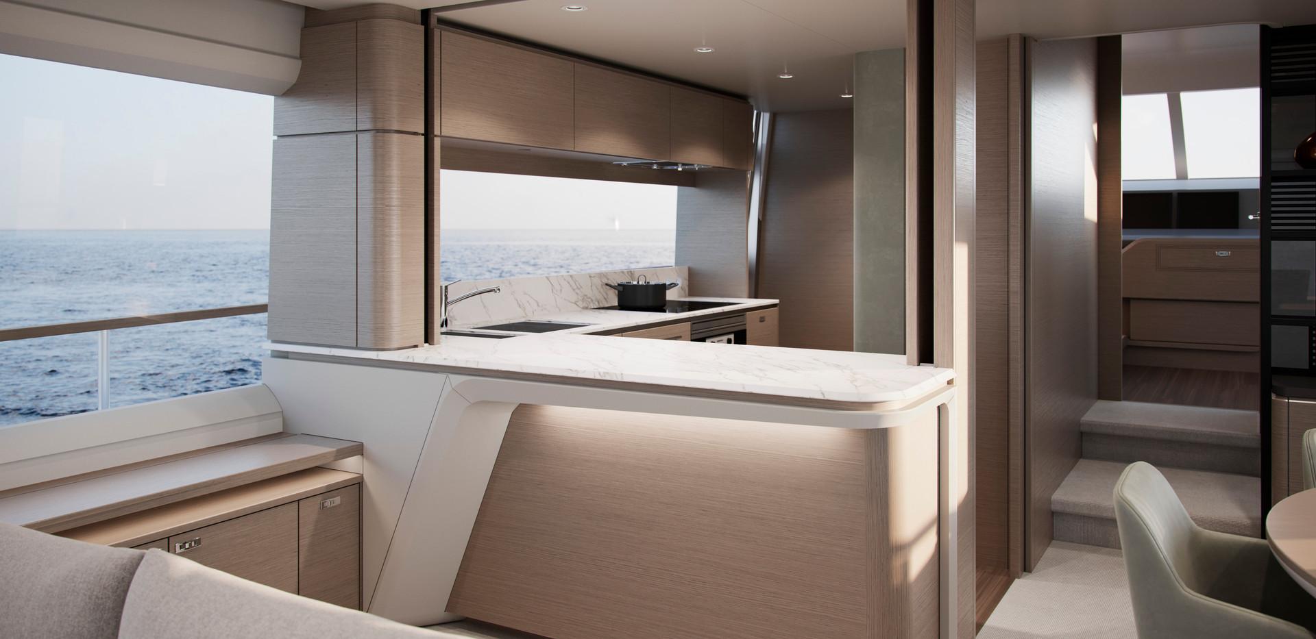 y85-interior-galley-cgi-silver-oak-satin
