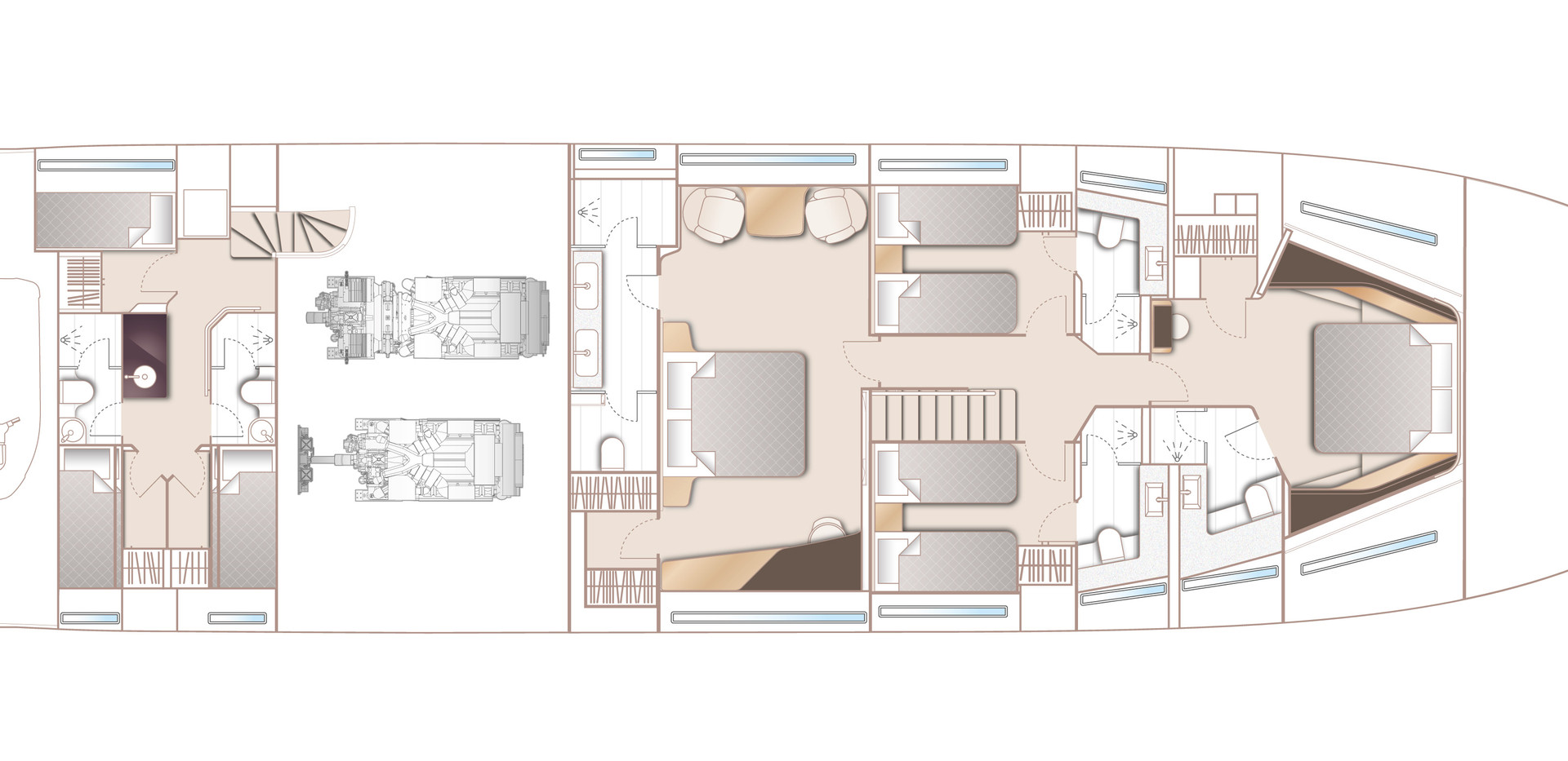 y95-layout-lower-deck-optional-crew-area