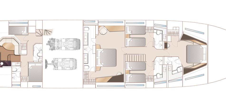 y95-layout-lower-deck-optional-beach-clu