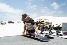 sandboard lancelin sand dunes