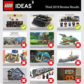 LEGO Ideas Third 2019 Review Ergebnisse von heute Dienstag 23.06.2020