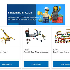 LEGO EOL - Einstellung in Kürze - wie das LEGO Set 80103 Drachenbootrennen