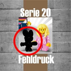 LEGO Minifiguren Serie 20 - Super Hase! Fehldruck auf der falschen Seite :-) Sehr lustig und RAR