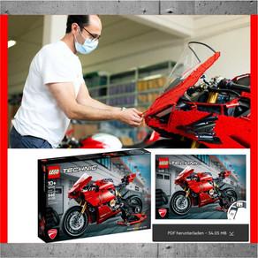 LEGO Technic 42107 Ducati Panigale V4 R und 1:1 Model alle Daten und Fakten