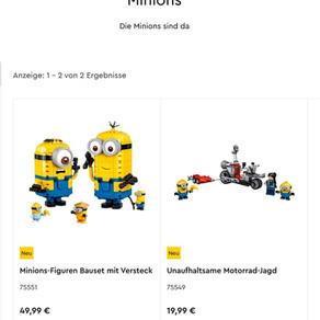 LEGO Minions 75551 und 75549 sind jetzt im LEGO Online Shop verfügbar plus Gratis Zugabe ab 35 Euro