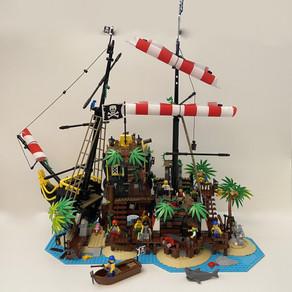 LEGO IDEAS 21322 Piraten der Barracuda-Bucht im Review Teil 3 bis Bauabschnitt 14 -Die fertige Insel
