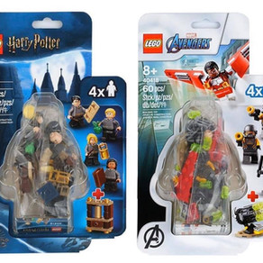 LEGO Harry Potter 40419 Hogwarts Students und LEGO Avengers 40418 Falcon Minifiguren-Pack