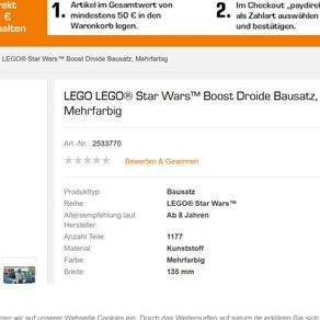 Lego Star Wars Boost Droide 75253  Angebot bei Saturn für 149,99 Euro